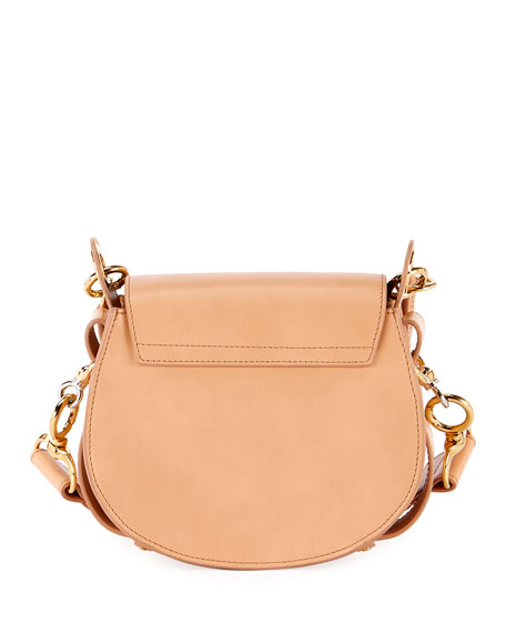 Image 4 of 6: Chloe Tess Small Leather/Suede Camera Crossbody Bag
