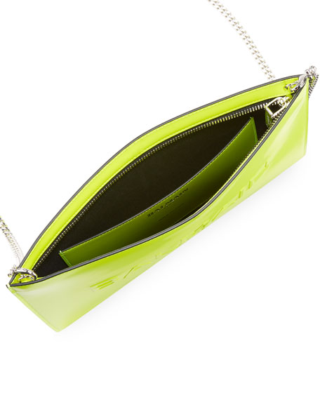 Balmain Domaine Mini Neon Leather Shoulder Bag