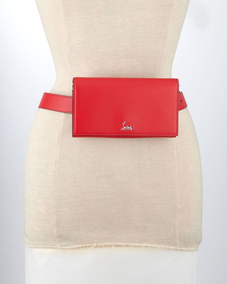 Image 2 of 4: Christian Louboutin Boudoir XS Leather Belt Bag with Chain Strap