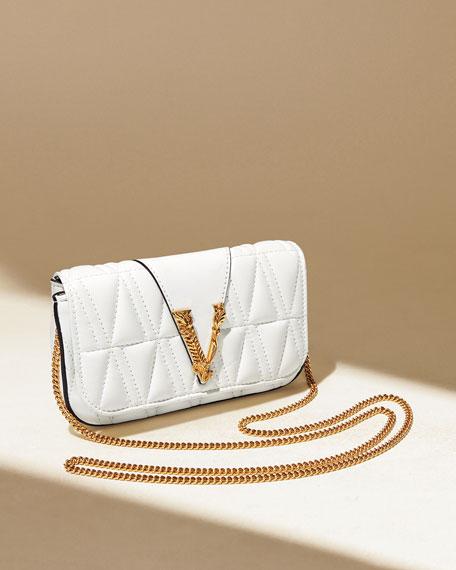 Versace Quilted Napa Shoulder Bag