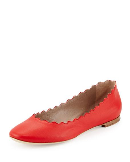 Chloe Soft Napa Leather Ballerina Flat