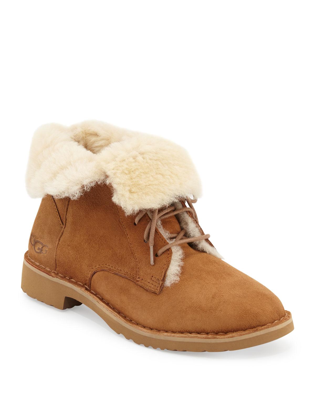 7dd33acec64 Quincy Shearling Fur Combat Boot