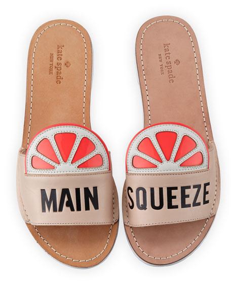 "izella ""main squeeze"" slide sandal, pale pink"