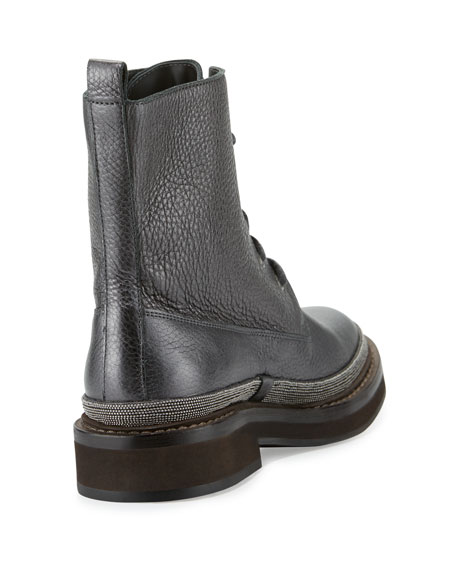Brunello Cucinelli Monili-Trimmed Leather Boots buy cheap pick a best official cheap price cheap ebay low price fee shipping sale online gnP78z4To