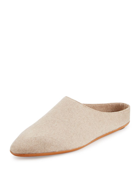 THE ROW Bea Cashmere Slipper, Ivory