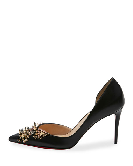 Farfa Spikes Half-d'Orsay 85mm Red Sole Pump