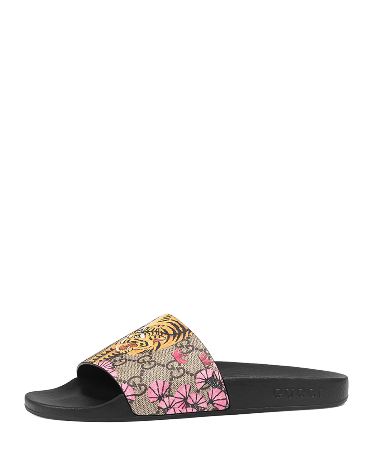 Pursuit Bengal,Print Canvas Sandal, Black