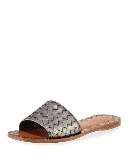 Bottega Veneta Suede Sandals - Light blue