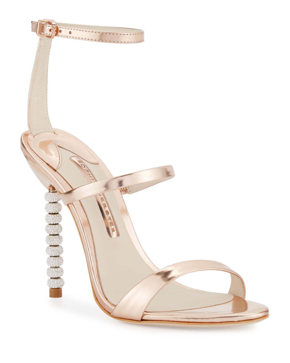 58482150c2d Sophia Webster Rosalind Crystal-Heel Leather Sandals