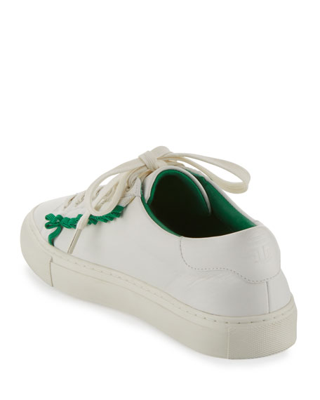 Ruffle Leather Low-Top Sneaker