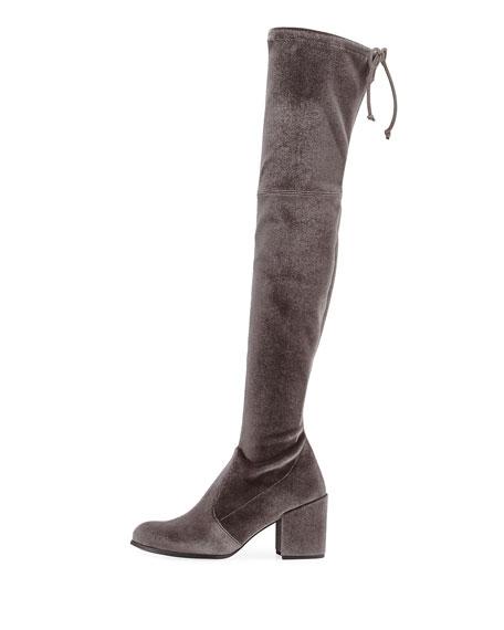 Tieland Velvet Over-the-Knee Boot