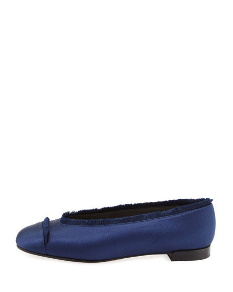 Captain Satin Ballet Flats
