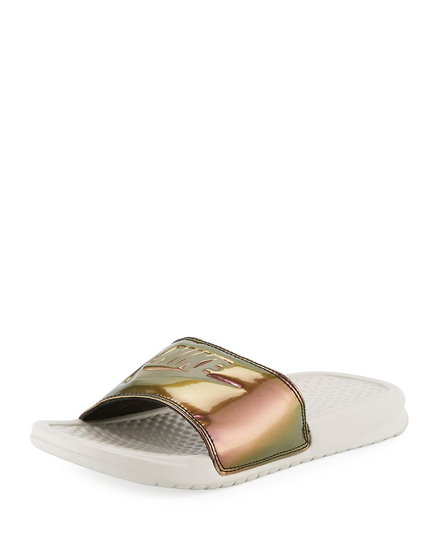 34700edbc207 Nike Benassi Just Do It Flat Slide Sandals