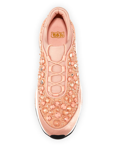 Muse Beaded Crystal Sneaker