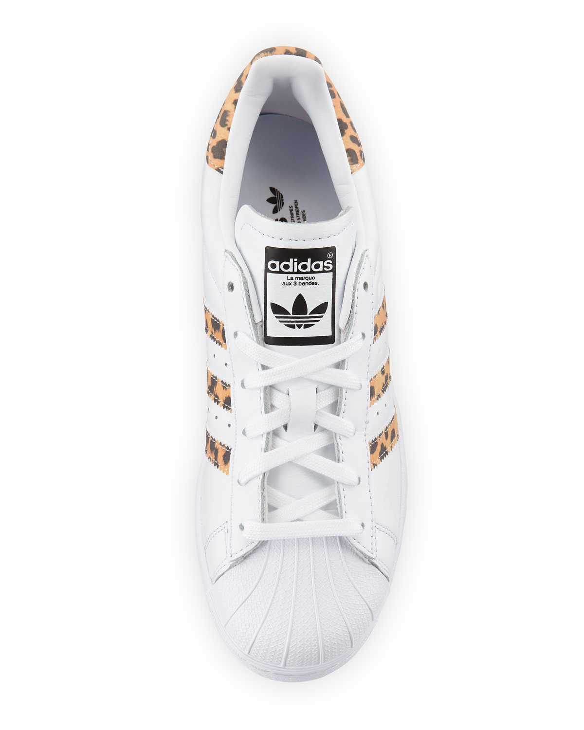 Nice Adidas Superstar GS White Black Gold Snake Scales