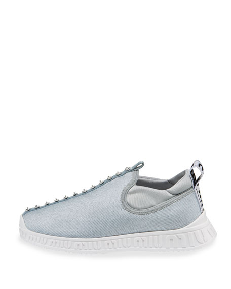 Jeweled Slip-On Trainer Sneaker