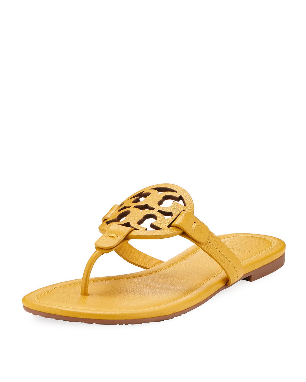 06c76f3894c1 Tory Burch Miller Leather Logo Sandal