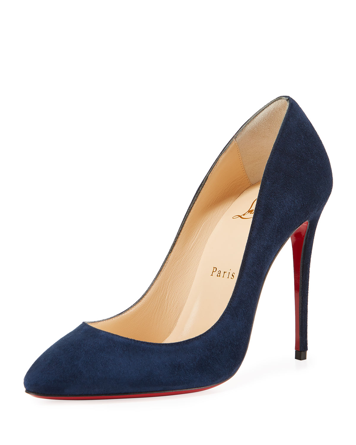 28f42595cf4 Eloise 100mm Suede Red Sole Pump