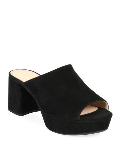 c9172322708d Prada Suede Platform Slide Sandals
