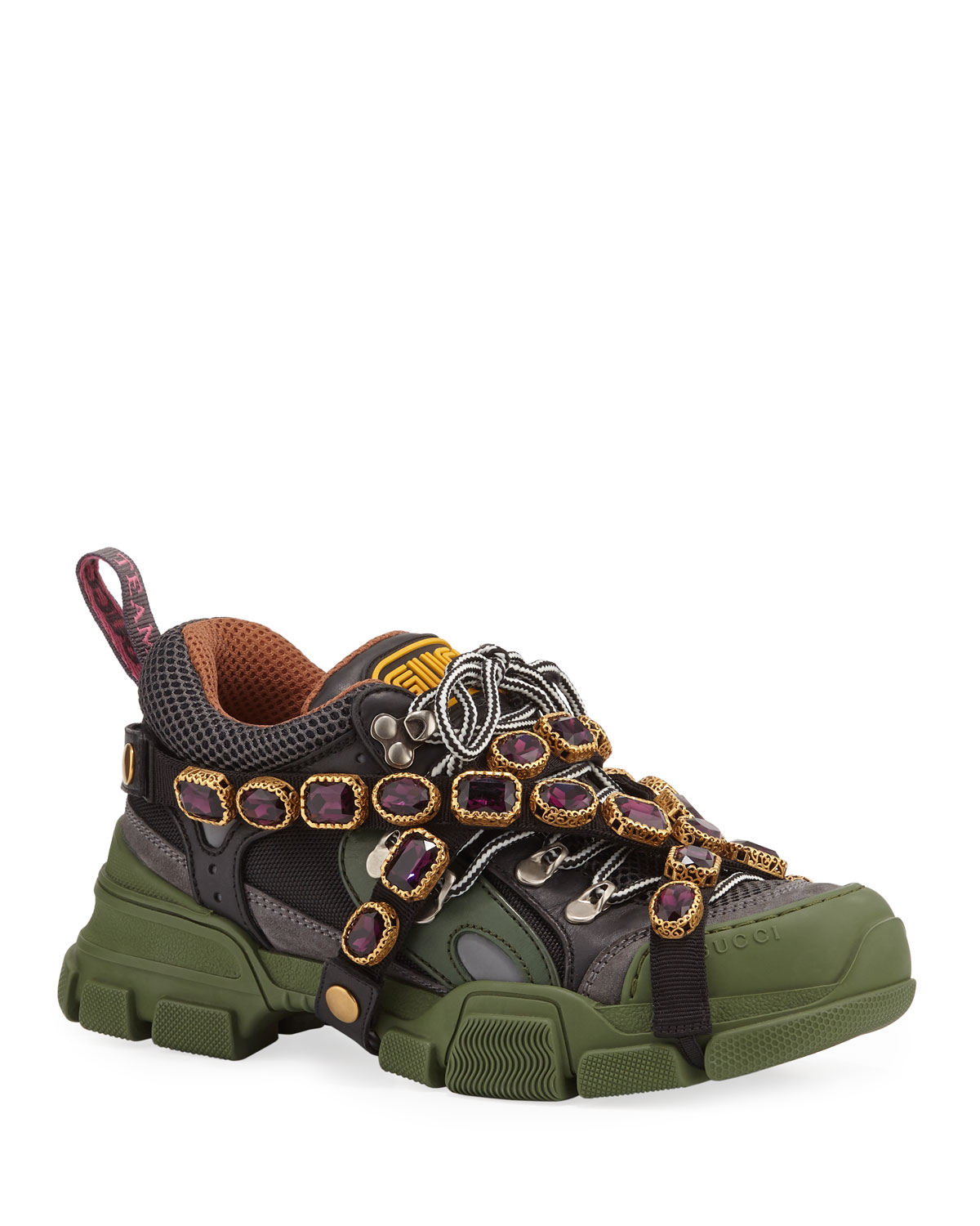 392ef414651 Gucci Flashtrek Hiker Sneaker With Chain Strap