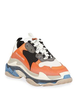 outlet store da360 37dcf Balenciaga Triple S Mesh   Leather Trainer Sneaker