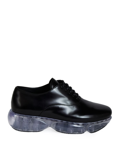 Prada Leather Sport Lace-Up Dress Shoes
