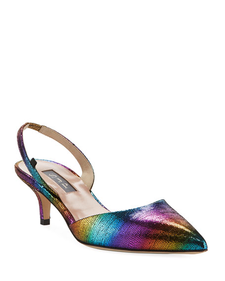 SJP by Sarah Jessica Parker Bliss Rainbow Metallic Low-Heel Pumps