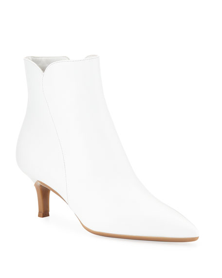 Gianvito Rossi Leather Pointed Zip Booties