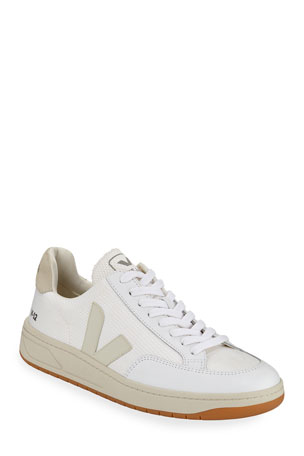 VEJA V 12 Mesh & Leather Low-Top Sneakers