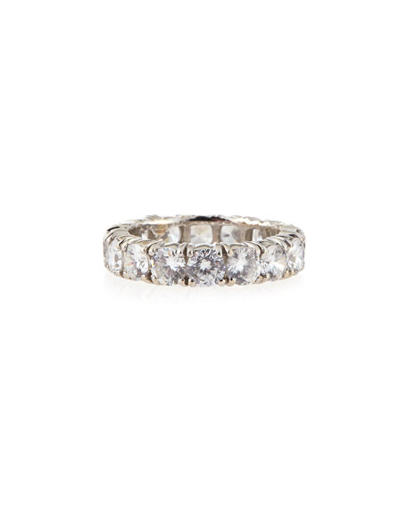 cz ring marquise silver band bands eternity sterling