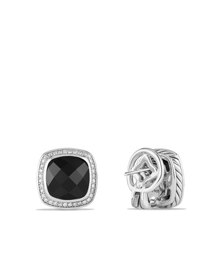 11mm Albion Earrings with Black Onyx and Diamonds Earrings