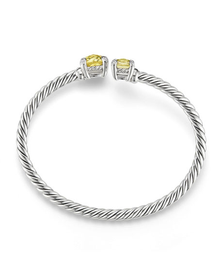 Image 2 of 2: Châtelaine Bypass Cuff Bracelet with Diamonds