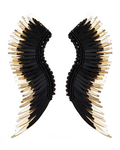 Madeline Beaded Statement Earrings  Black/Golden