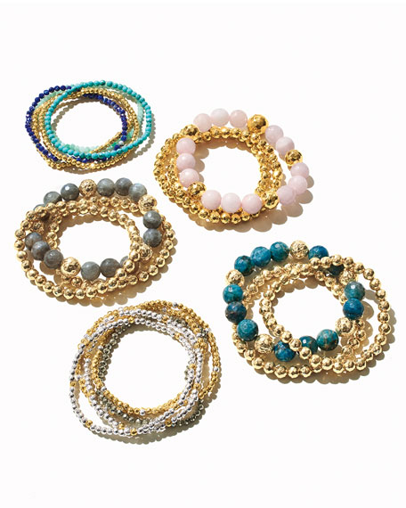 Image 2 of 5: gorjana Acacia Delicate Mixed Bracelets, Set of 5