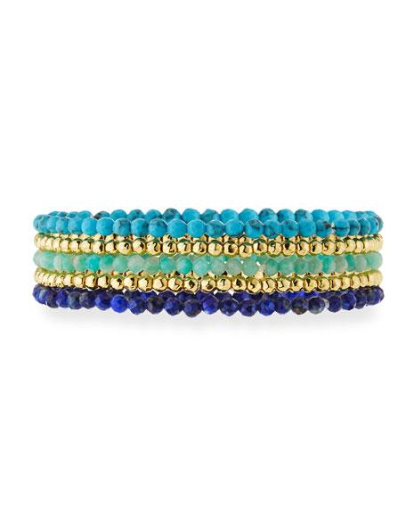 gorjana Acacia Delicate Mixed Bracelets, Set of 5