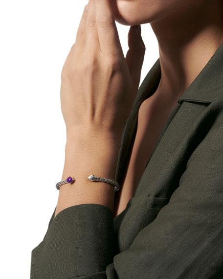 John Hardy Classic Chain Split Stone Bangle Bracelet
