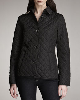 Burberry Brit Quilted Jacket, Black