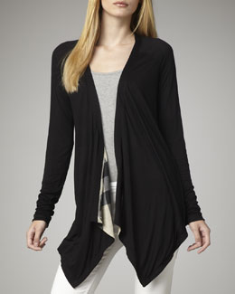 Burberry Brit Reversible Modal Cardigan, Black
