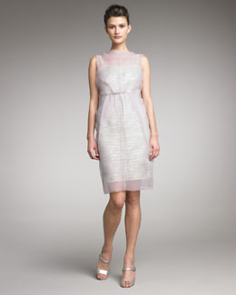 Marc Jacobs Organza-Overlay Dress