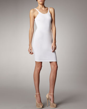 Mesh-Detailed Dress & Formfitting Tank Dress
