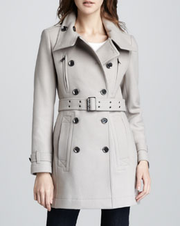 Burberry Brit Wool-Blend Trenchcoat