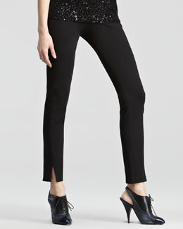 Donna Karan Slit-Cuff Pull-On Pants
