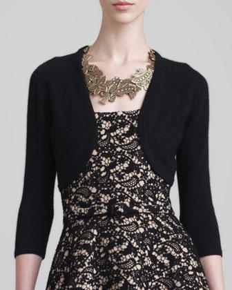 Cashmere-Silk Bolero, Black