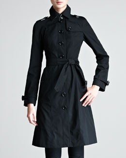Burberry London Single-Breasted Poplin Trenchcoat