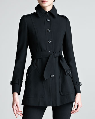 Short Tailored Trenchcoat