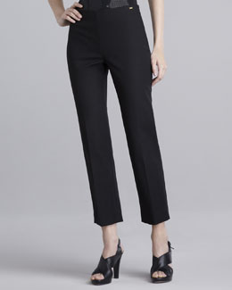 St. John Collection Jennifer Side-Zip Pants