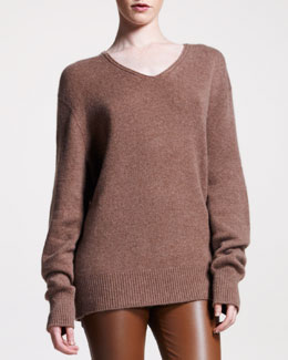 THE ROW Cashmere V-Neck Sweater