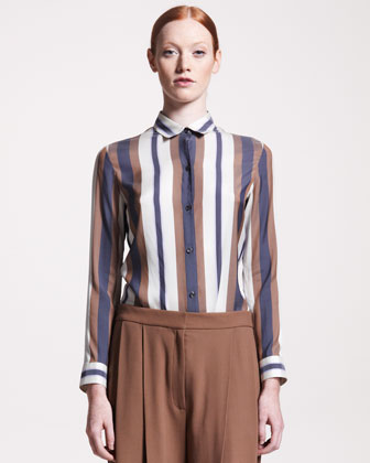 Jacquard-Stripe Blouse