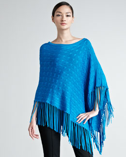 Ralph Lauren Black Label Francis Cable-Knit Poncho
