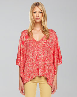 Michael Kors Space-Dye Poncho Sweater